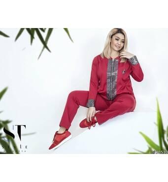 Костюм 30530 (піджак   брюки)  (червоний)