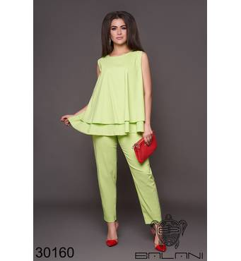Костюм брючний   (зелений) - 30160