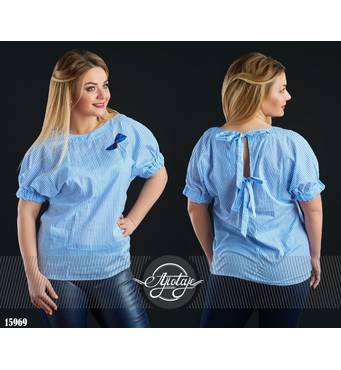 Блуза - 15969 (блакитна)