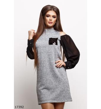 Жіноча сукня 17392 сірий