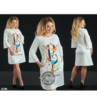 Сукня - 15798 (біла основа)