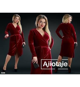 Сукня - 18280 (червоний)