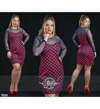 Платье - 15241 (красный горох)