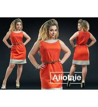 Платье - 19995 (морковный)