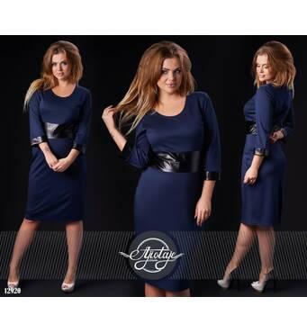 Сукня - 12920 (темно-синій)