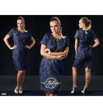 Сукня - 12091 (темно-синій)