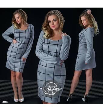 Платье - 12468 (серый)