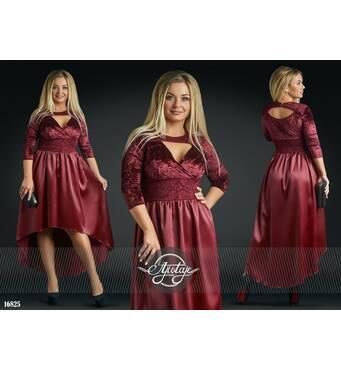 Сукня - 16825 (бордовий)