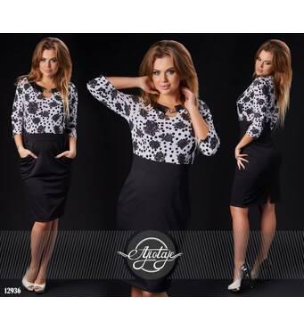 Платье - 12936 (черный)