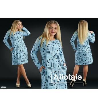 Платье - 17336 (серая основа)