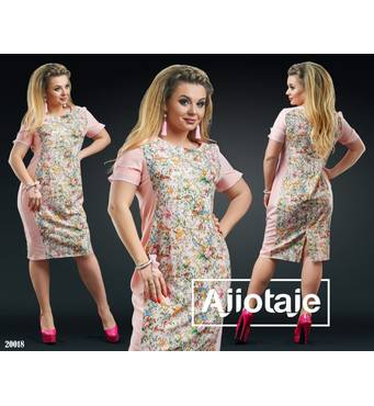 Платье - 20018 (персик основа)