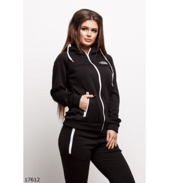 Жіночий спортивний костюм 17612 чорний