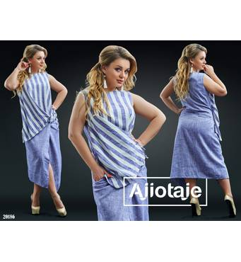 Платье - 20186 (голубой)