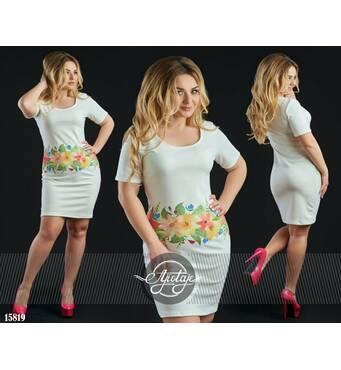 Платье - 15819 (белая основа)