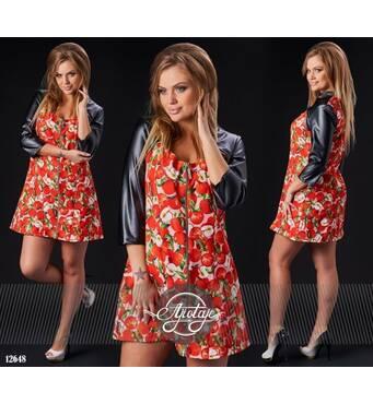 Платье - 12648 (персик основа)