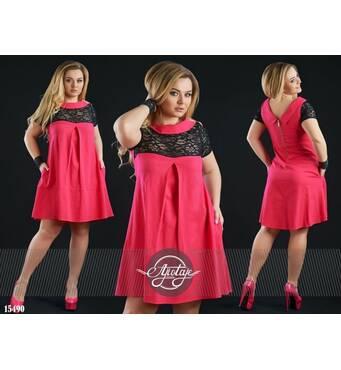 Платье - 15490 (малиновый)