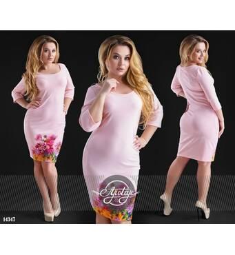 Платье - 14347 (пудра)