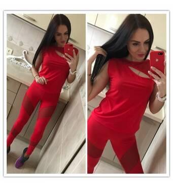 Фитнес костюмАрт : 0081 (червоний) kll - 5901872