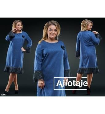Платье - 17993 (синий)