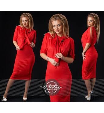 Сукня - 13248 (червоний)