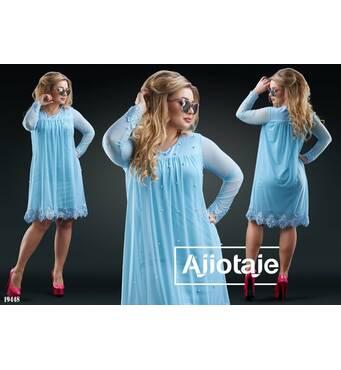 Платье - 19448 (голубой)