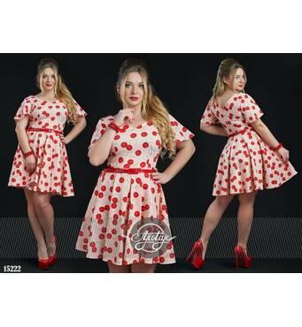 Сукня - 15222 (пудра основа)