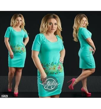 Платье - 15821 (бирюза основа)