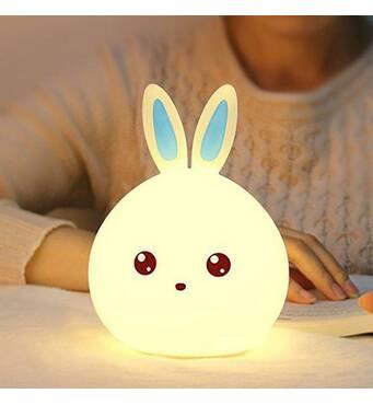 Дитячий 3d нічник Man rabbit без дротів Акумулятор 1200маh Милий кролик сертифікат якості