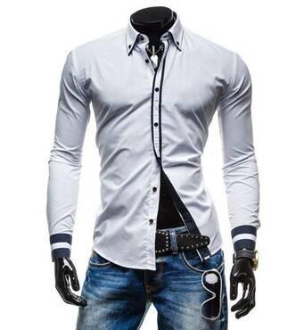 Рубашка мужская код 77 (белая). Новинка!