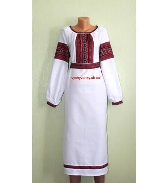 платье женское с тканым орнаментом