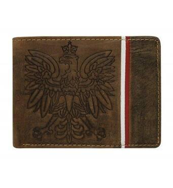 Мужской бумажник натуральная кожа (темно-коричневый) Buffalo Wild