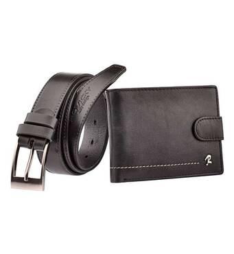Набор мужской кошелек + ремень бренд  Rovicky код 325