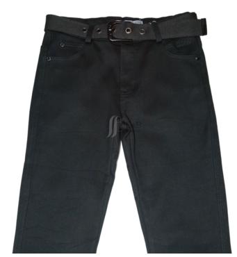 Джинси для хлопчика на флисе, чорного кольору