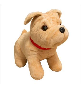 М'яка іграшка Бульдог сидячий маленький 38 см