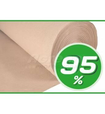 Декоративная сетка 95% (2х50) бежевая