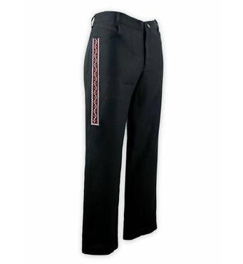Стильные вышитые мужские брюки купить в Запорожье