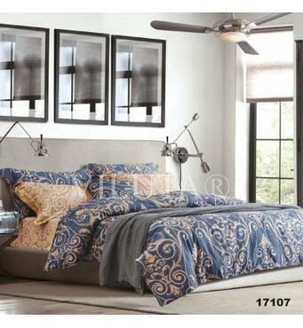 Полуторный комплект постельного белье из ранфорса Viluta