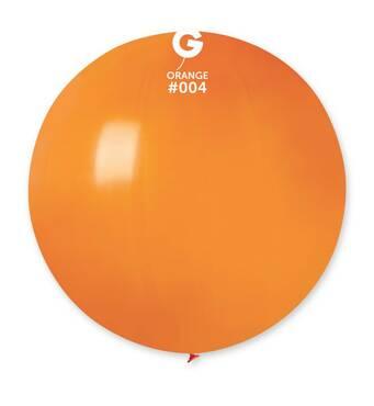 """Шар сюрприз помаранчевий 31"""" (80 см).  Кульки повітряні гіганти Gemar"""