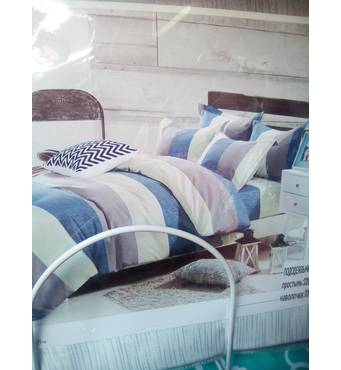 Двухспальный евро комплект постельного белья из фланели(байка)