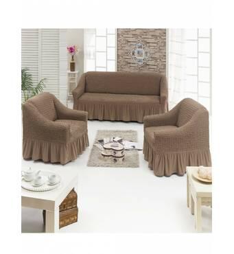 """Чохол на диван 2 крісла (Макси розмір) ТМ"""" Kayra"""".Туреччина. -капучино"""