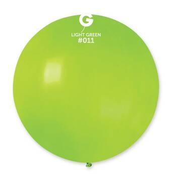"""Шар сюрприз салатовий 31"""" (80 см). Кульки повітряні гіганти Gemar"""