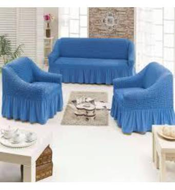 """Чохол на диван 2 крісла (Макси розмір) ТМ"""" Kayra"""".Туреччина. - синій"""