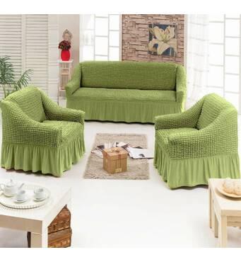"""Чохол на диван 2 крісла (Макси розмір) ТМ"""" Kayra"""".Туреччина. -зеленый"""