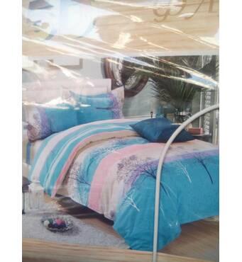 Двоспальний євро комплект постільної білизни з фланелі (байка)