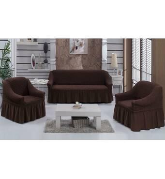 """Чохол на диван 2 крісла (Макси розмір) ТМ"""" Kayra"""".Туреччина. -каричневый"""
