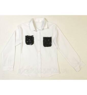 Шкільна блуза з кишеньками на вік 9-12 років