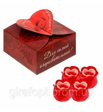 """Набор мильні пелюстки в скриньці серце """"З любов'ю"""""""