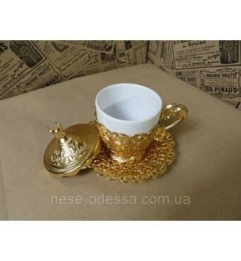 Кофейная чашка 110 мл. Металл керамика. Турция.