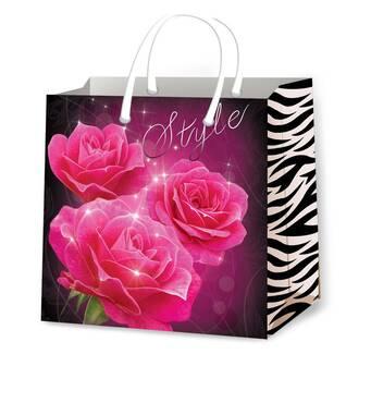 Пакеты для подарков женские размер 24 х 24 см (12 шт/уп)