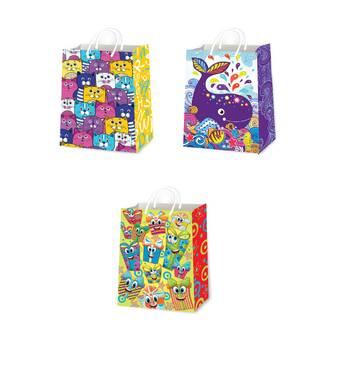 Подарункові пакети дитячі розмір 38 х 24 см (12 шт/уп)